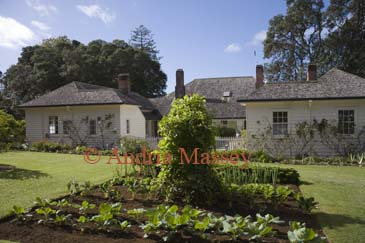 WAITANGI NORTH ISLAND NEW ZEALAND May The vegetable garden of The Treaty House built by the first British resident James Busby in 1833