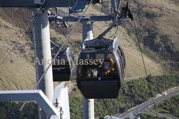CHRISTCHURCH SOUTH ISLAND NEW ZEALAND May Visitors in a cable car ascending Mount Cavenish Gondola to the Summit Station