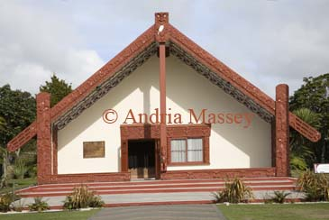 ROTORUA NORTH ISLAND NEW ZEALAND May A Maori building Wharenui sacred Meeting House at Te Puia New Zealand's Premier Maori Cultural and Geothermal Experience
