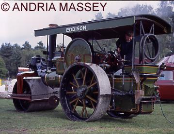 Mytchett Surrey Emma - a steam roller in the Cavalcade of Transport