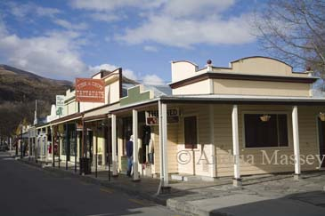 ARROWTOWN SOUTHERN LAKES SOUTH ISLAND NEW ZEALAND May Some of the 19thc buildings in the main street of this former gold rush town
