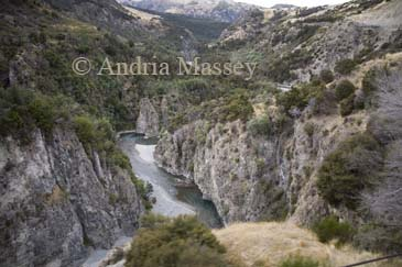 NR SPRINGFIELD SOUTH ISLAND NEW ZEALAND May Spectular view of a gorge of the Waimakiriri River from the Tranz Alpine Express Train