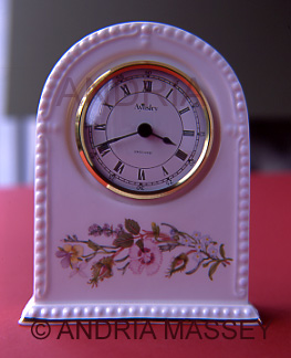 Aynsley ceramic clock