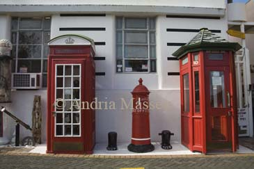 DEVONPORT AUCKLAND NORTH ISLAND NEW ZEALAND May An old English and New Zealand Phone box and post box some of the exhibition of the Jacksons Muzeum