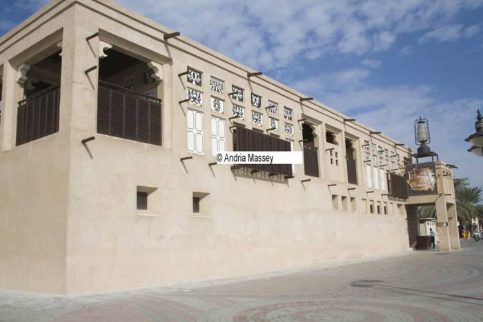 Dubai United Arab Emirates The two storey Sheikh Obaid Bin Thani House was built in 1916 in Al Shindagha district now houses a museum