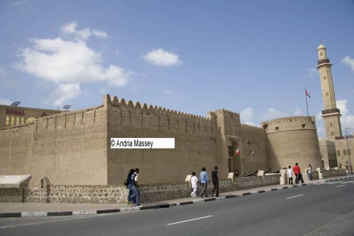 Dubai United Arab Emirates Al Fahidi Fort built in 1787 houses the Dubai Museum with creative and imaginative displays