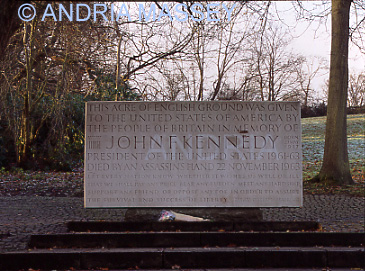 Runnymede Surrey Kennedy memorial -baesd on a theme of Bunyans Pilgrims Progress - the steps, stones and seats symbolises life,death & spirit