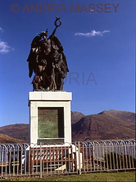 Glenelg Scottish Highlands War Memorial for local men lost in both World Wars