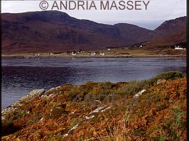 Glenelg Scottish Highlands Kylerhea on the Isle of Skye across Glenelg Bay