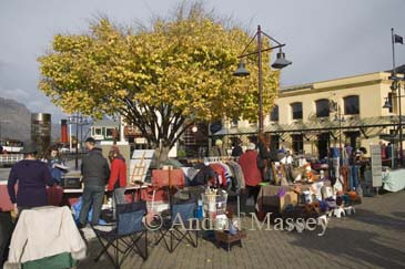 QUEENSTOWN SOUTHERN LAKES SOUTH ISLAND NEW ZEALAND May The weekly market in front of Steamer Quay