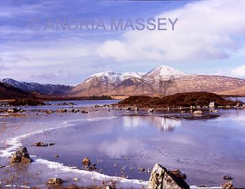 Rannoch Moor Scottish Highlands A frozen Loch Ba