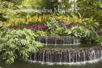 SINGAPORE ASIA May A colourful water feature in the Botanic Gardens