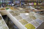 Dubai United Arab Emirates A shop with a huge choice of nuts and spices for sale