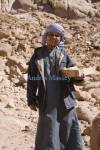 Sinai Egypt North Africa February Young Bedouin boy trying to make a living selling crystal stones