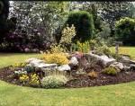 Wolverhampton West Midlands A rockery in an urban garden
