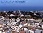 MIJAS COSTA DEL SOL SPAIN Looking down on the town from the road to Coin