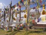 DHULIKHEL VALLEY NEPAL November The legendary Namobuddha stupa covered in prayer flags one of the main stupas visited by Tibetans