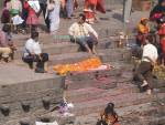 PASUPATINATH NEPAL November Preparing a body for a cremation on this site of a Hindu temple on the sacred Bagmati river