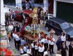 ISTAN COSTA DEL SOL SPAIN Good Friday Parade with the Virgin Mary in tears