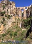 RONDA COSTA DEL SOL SPAIN Puente Nuevo spans the deep Tajo Gorge