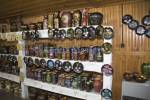 Marginea Romania EU September A giftshop displaying a great selection of souvenir ceramics