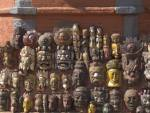 PATAN NEPAL November One of the souvenir stalls in Durbar Square selling wooden masks