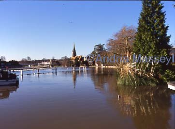 River Thames in full flood - Marlowe Buckinghamshire  Format: Medium