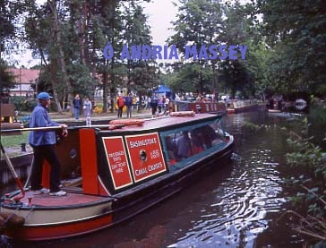Narrowboat on the Basingstoke Canal