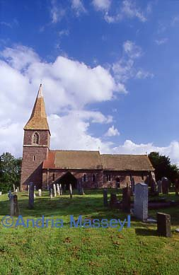 St Mary�s Church Humber Herefordshire  Format: 35mm