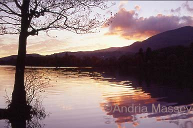 Coniston - The Lake District Sunset over Coniston Water  Format: 35mm