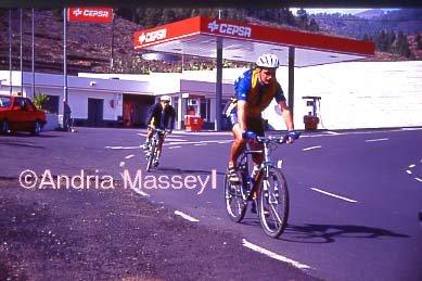 Vilaflor Tenerife Mountain Bikers  Format: 35mm
