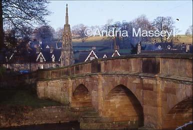 Bridge and war memorial - Ilam Staffordshire  Format: 35mm