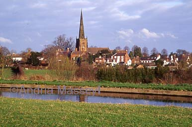 View of Brewood Village from across the Shropshire Union Canal - Staffordshire